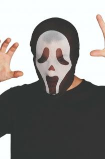 Rubies 6240329 - Maske Shocked Ghost, Kostüm Zubehör, Stoffmaske, Whats up?