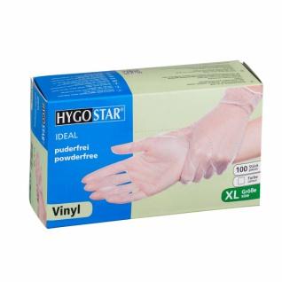 HYGOSTAR Vinyl Hygienehandschuhe IDEAL XL