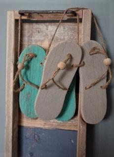 Strand Dekor Flip Flops hängend im Set 18cm