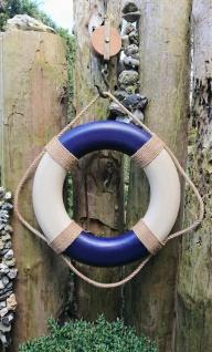 Vintage Rettungsring creme blau 50 cm