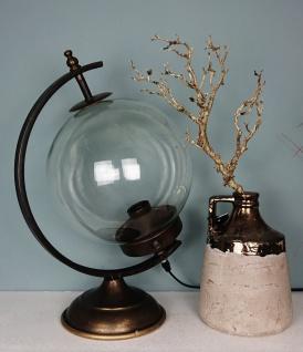 Tisch- Lampe in matt altgold gebürstet- 45cm x30cm
