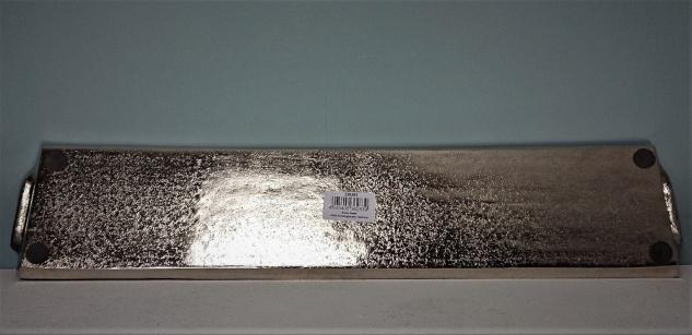 Dekoratives Silber Tablett 14 x 66 cm - Vorschau 4