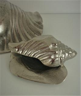 Kleine Silberne Schnecke aus Aluguß
