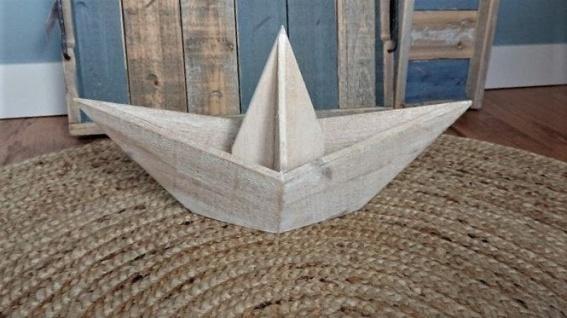 Deko - Holzboot 45cm