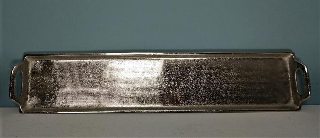 Dekoratives Silber Tablett 14 x 66 cm - Vorschau 3