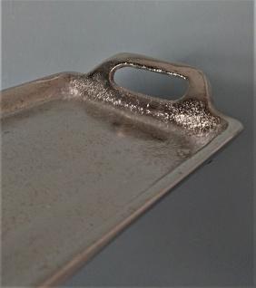 Dekoratives Silber Tablett 14 x 66 cm