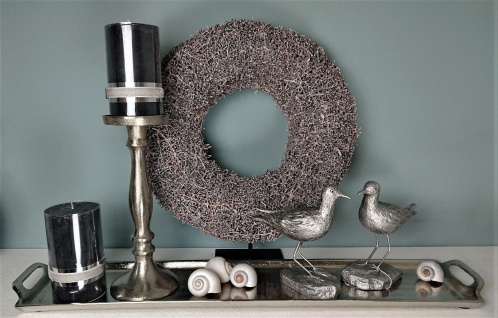 Dekoratives Silber Tablett 14 x 66 cm - Vorschau 2