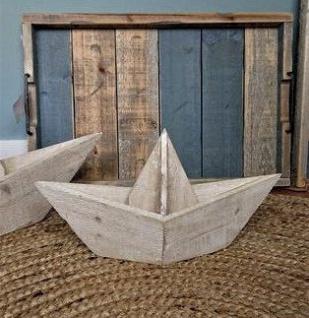 Deko - Holzboot 35cm