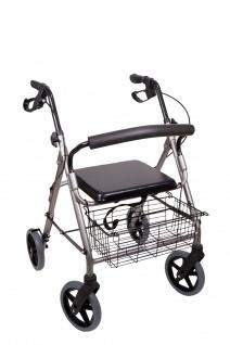 Antar - Leichtgewicht Rollator AT51003 mit Korb, Sitz und Rückenbügel