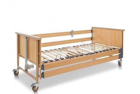 Burmeier - Dali II Krankenpflegebett für die häusliche Pflege, 24 Volt Antrieb mit Holzfederleisten