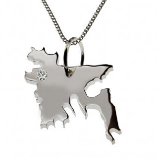 50cm Halskette + Bangladesh Anhänger mit einem Brillant 0, 015ct an Ihrem Wunschort in 925 Silber