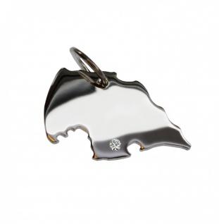 Fehmarn Anhänger mit einem Brillant 0, 015ct an Ihrem Wunschort in massiv 925 Silber