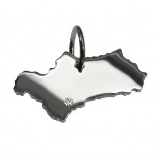 Andalusien Anhänger mit einem Brillant 0, 015ct an Ihrem Wunschort in massiv 925 Silber