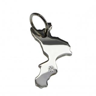 Kalabrien Anhänger mit einem Brillant 0, 015ct an Ihrem Wunschort in massiv 925 Silber