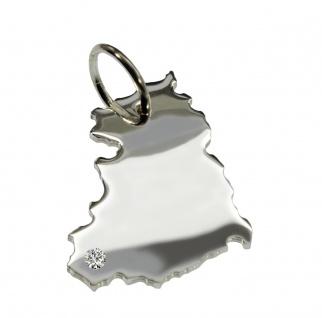 DDR Anhänger mit einem Brillant 0, 015ct an Ihrem Wunschort in massiv 925 Silber