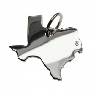 Texas Anhänger mit einem Brillant 0, 015ct an Ihrem Wunschort in massiv 925 Silber