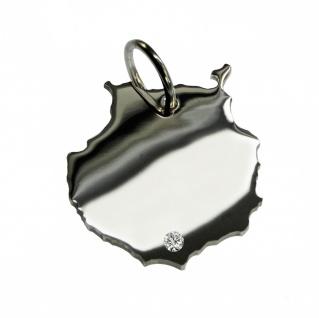 Gran Canaria Anhänger mit einem Brillant 0, 015ct an Ihrem Wunschort in massiv 925 Silber
