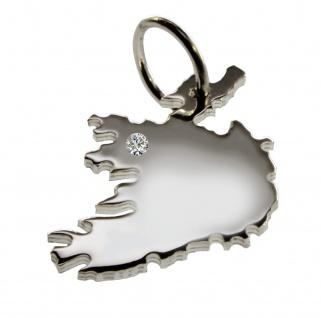 Irland Anhänger mit einem Brillant 0, 015ct an Ihrem Wunschort in massiv 925 Silber