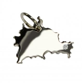 Berlin Anhänger mit einem Brillant 0, 015ct an Ihrem Wunschort in massiv 925 Silber
