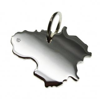 Litauen Anhänger mit einem Brillant 0, 015ct an Ihrem Wunschort in massiv 925 Silber