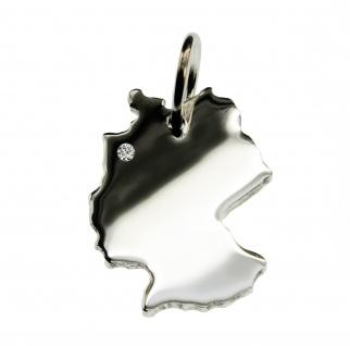Deutschland Anhänger mit einem Brillant 0, 015ct an Ihrem Wunschort in massiv 925 Silber