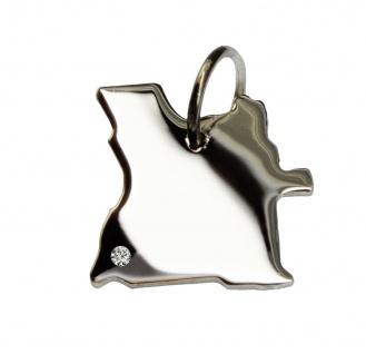 Angola Anhänger mit einem Brillant 0, 015ct an Ihrem Wunschort in massiv 925 Silber