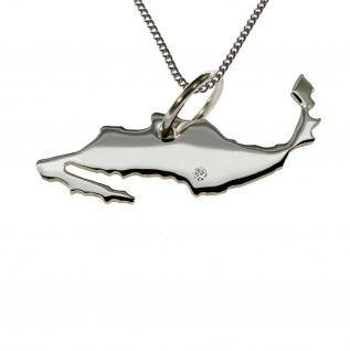50cm Halskette + Mexiko Anhänger mit einem Brillant 0, 015ct an Ihrem Wunschort in 925 Silber
