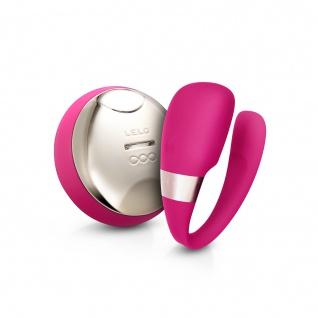LELO TIANI 3 U-förmiger Massagerfür Paare kirsche, Kabellose Fernsteuerung für handlose Befriedigung, Intim-Massager für Paare