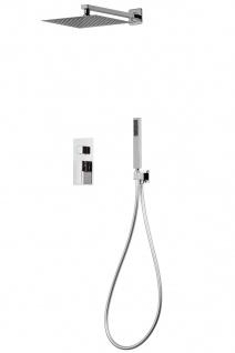Corsan Duschset Duschsystem Unterputz Duschmischer mit Kopfbrause Silber Design + EBOX