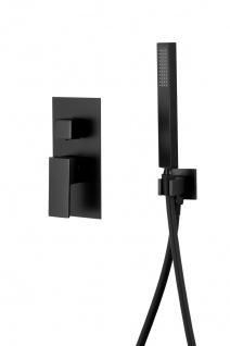 Corsan Duschset Duschsystem Unterputz Duschmischer mit Kopfbrause Schwarz Design + EBOX - Vorschau 3