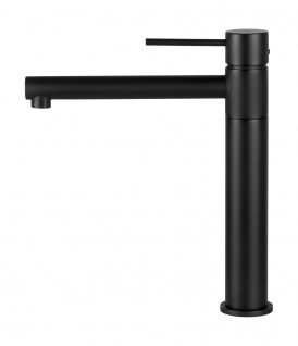 Corsan Einhebelmischer Mischbatterie Waschbecken Hoch Wasserhahn Badarmatur Waschbecken-Armatur Hoch CORSAN CMB7521BL