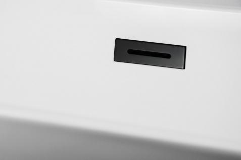 Corsan Freistehende Badewanne E-042XL 170 cm Acryl mit Überlauf (schwarz) - Vorschau 3