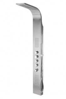 Corsan Duschpaneel in INOX mit Thermostat Badarmatur Dusche S-003TBL