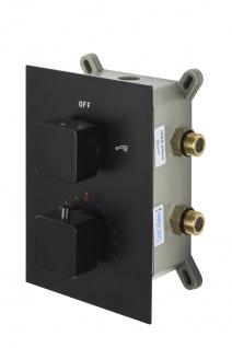 Corsan Duschset Duschsystem Unterputz Dusch Termostat mit Kopfbrause Schwarz Design + EBOX - Vorschau 4