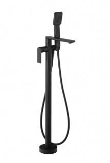 Corsan Freistehende Armatur Badewannenarmatur Corsan CMB7159BL schwarz