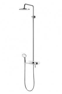 Corsan Duschset Duschsystem Aufputz Kopfbrause Chrome / Weiss Modern Design CMN002 FIBER