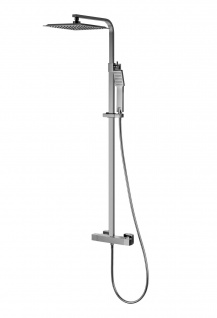 Corsan Duschset Duschsystem Aufputz Thermostat Kopfbrause Verchromt Modern Design CMN018