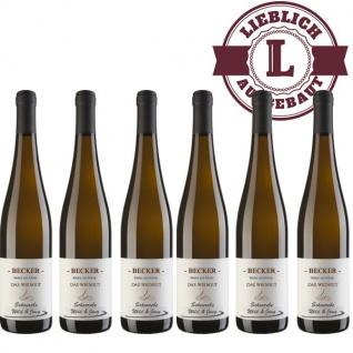 Weißwein Rheinhessen Weingut Becker Scheurebe lieblich (6 x 0, 75 l)