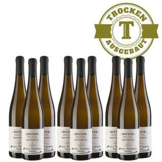 Weißwein Rheinhessen Grauer Burgunder Weingut Becker trocken ( 9 x 0, 75 l)