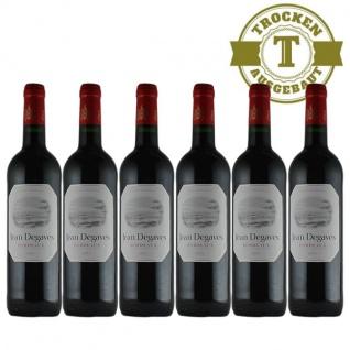 Rotwein Frankreich Vin de Bordeaux Jean Degaves trocken - 6x0, 75L