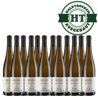 Weißwein Rheinhessen Riesling Weingut Becker halbtrocken (12 x 0, 75 l)