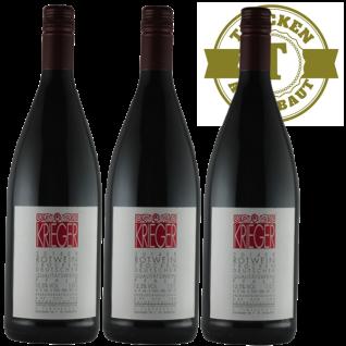 Rotwein Pfalz Qualitätswein Weingut Krieger trocken (3 x 1, 0L)