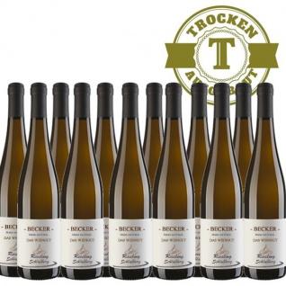 Weißwein Rheinhessen Riesling Weingut Becker Schloßberg trocken (12 x 0, 75 l)