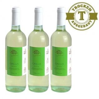 Weißwein Italien Grillo Siciliane trocken (3x0, 75l)