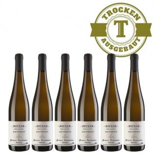 Weißwein Rheinhessen Grauer Burgunder Weingut Becker trocken ( 6 x 0, 75 l)