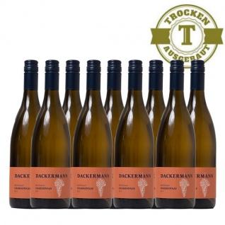 Weißwein Rheinhessen Chardonnay Weingut Dackermann Ortswein trocken ( 3 x 0, 75 l)