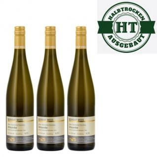 Weißwein Nahe Scheurebe Weingut Roland Mees Kreuznacher Rosenberg Qualitätswein halbtrocken (3 x 0, 75l)