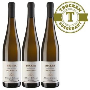 Weißwein Rheinhessen Silvaner Weingut Becker trocken ( 3 x 0, 75 l)