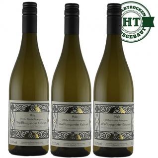 Weißwein Pfalz Weißburgunder Weingut Krieger Rhodter Rosengarten Kabinett halbtrocken (3 x 0, 75 L )