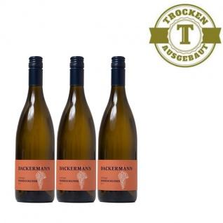 Weißwein Rheinhessen Weißer Burgunder Weingut Dackermann Lagenwein Steinbügel trocken ( 3 x 0, 75 l)